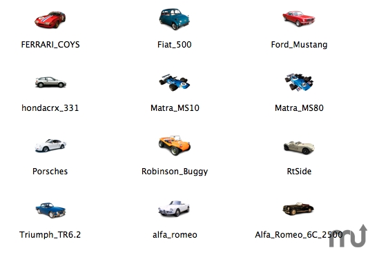 Screenshot 1 for 12 Collectors Cars Icons