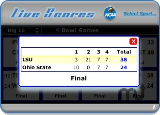 Screenshot 1 for Live Scores