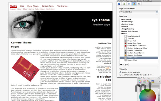 Screenshot 1 for Eye Theme