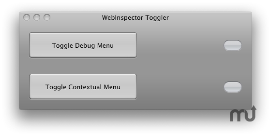Screenshot 1 for WebInspector Toggler