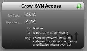 Screenshot 1 for SVN Notifier