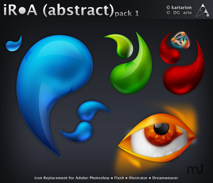 Screenshot 1 for iRA Abstract Icons