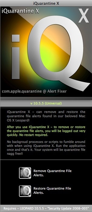 Screenshot 1 for iQuarantine X