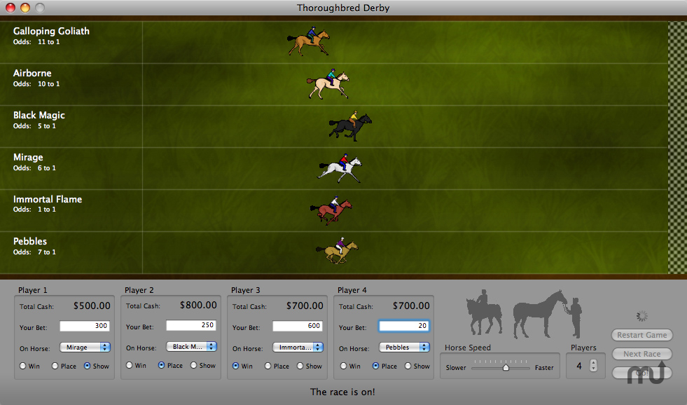 Screenshot 1 for Thoroughbred Derby