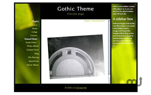 Screenshot 1 for Gothic Theme