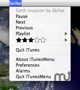Screenshot 1 for iTunesMenu