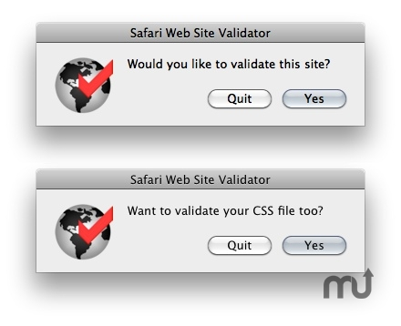 Screenshot 1 for Safari Web Site Validator