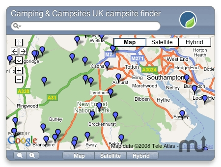 Screenshot 1 for UK Campsite Finder