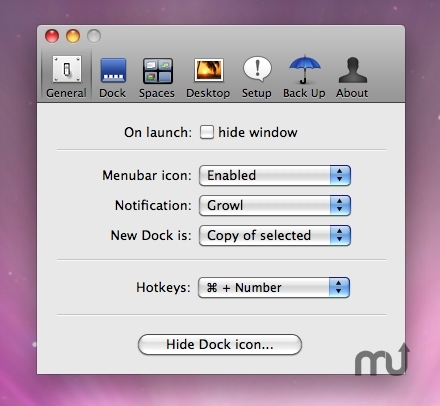 Screenshot 1 for Dock Spaces