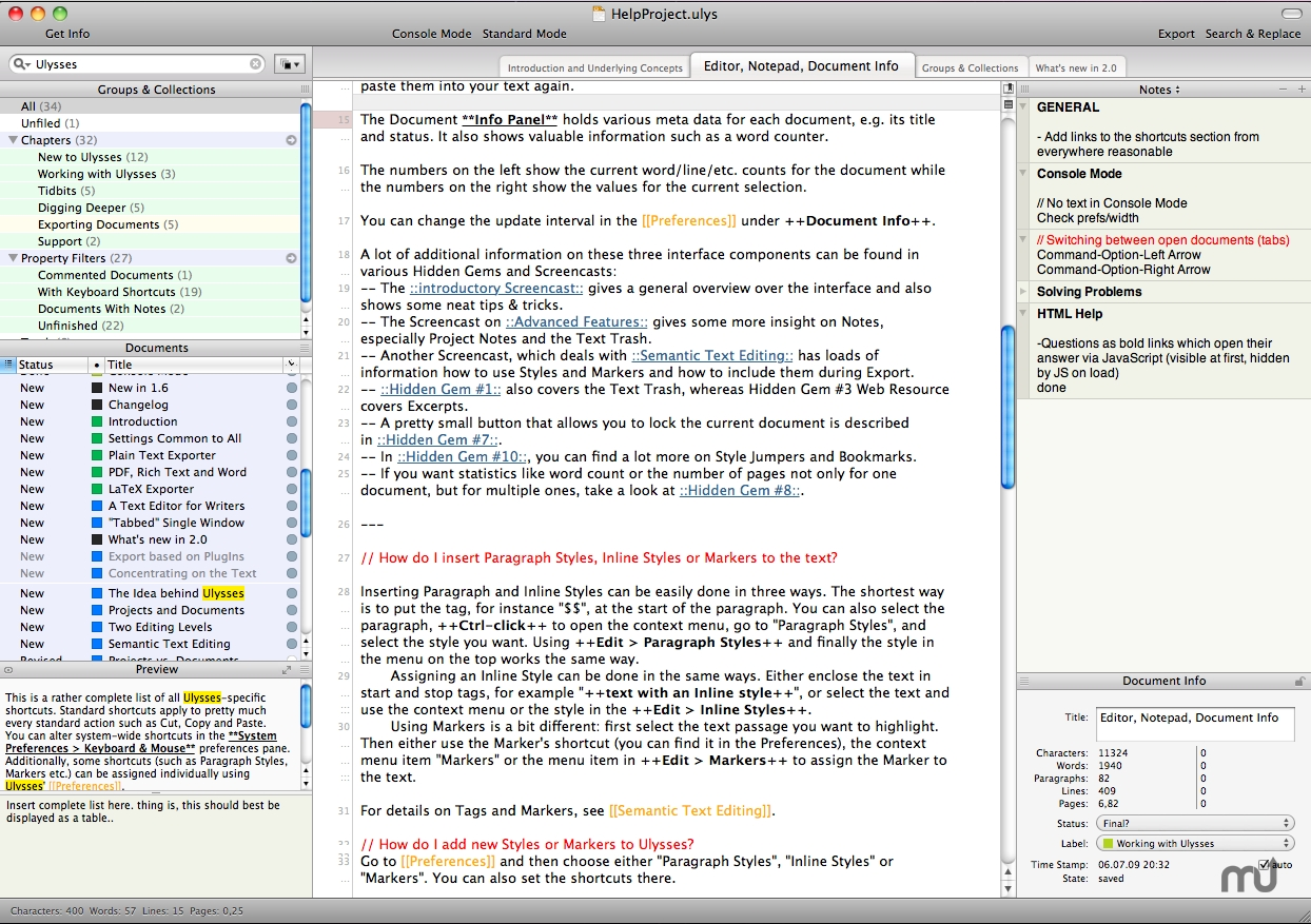 Screenshot 1 for Ulysses core