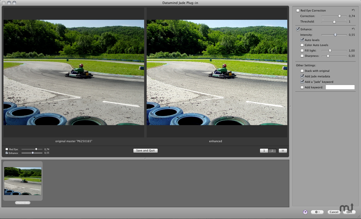 Screenshot 1 for Jade Aperture Plug-in