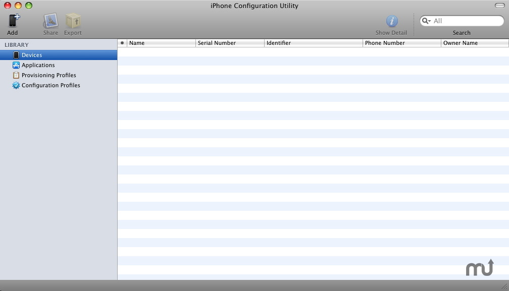 Screenshot 1 for Apple iPhone Configuration Utility