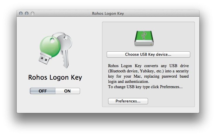 Screenshot 1 for Rohos Logon Key