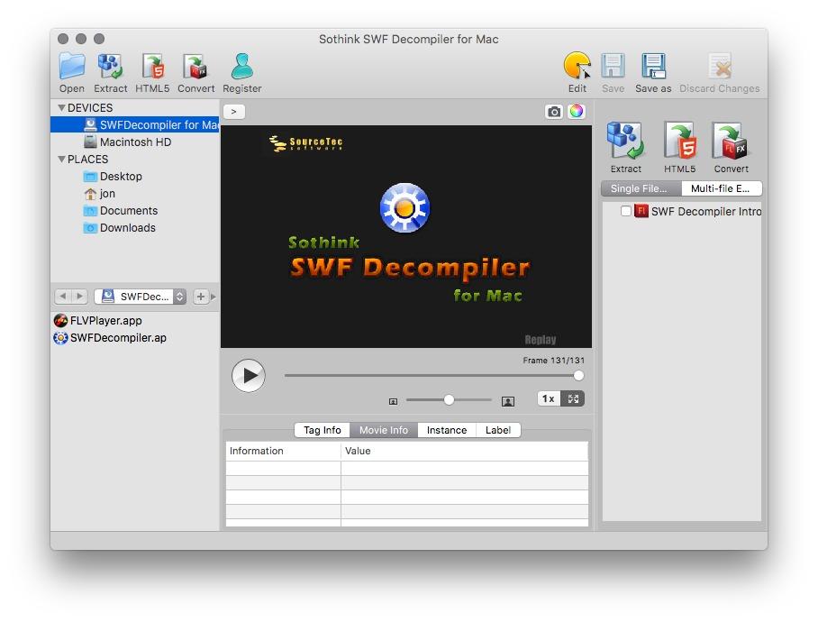 7 4) Download Sothink SWF Decompiler to apple pc last version