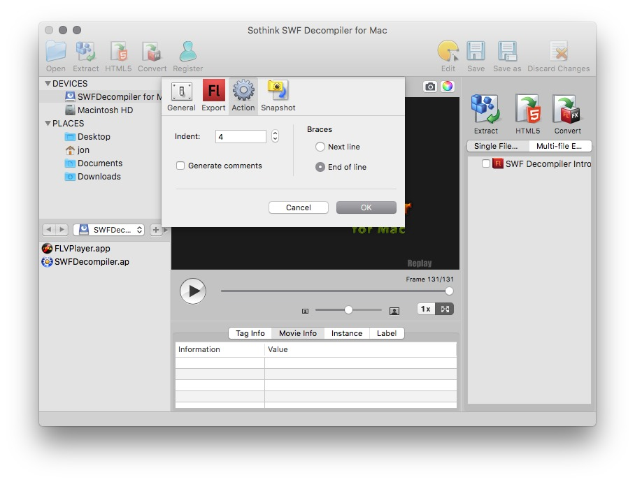 Sothink SWF Decompiler for Mac | MacUpdate