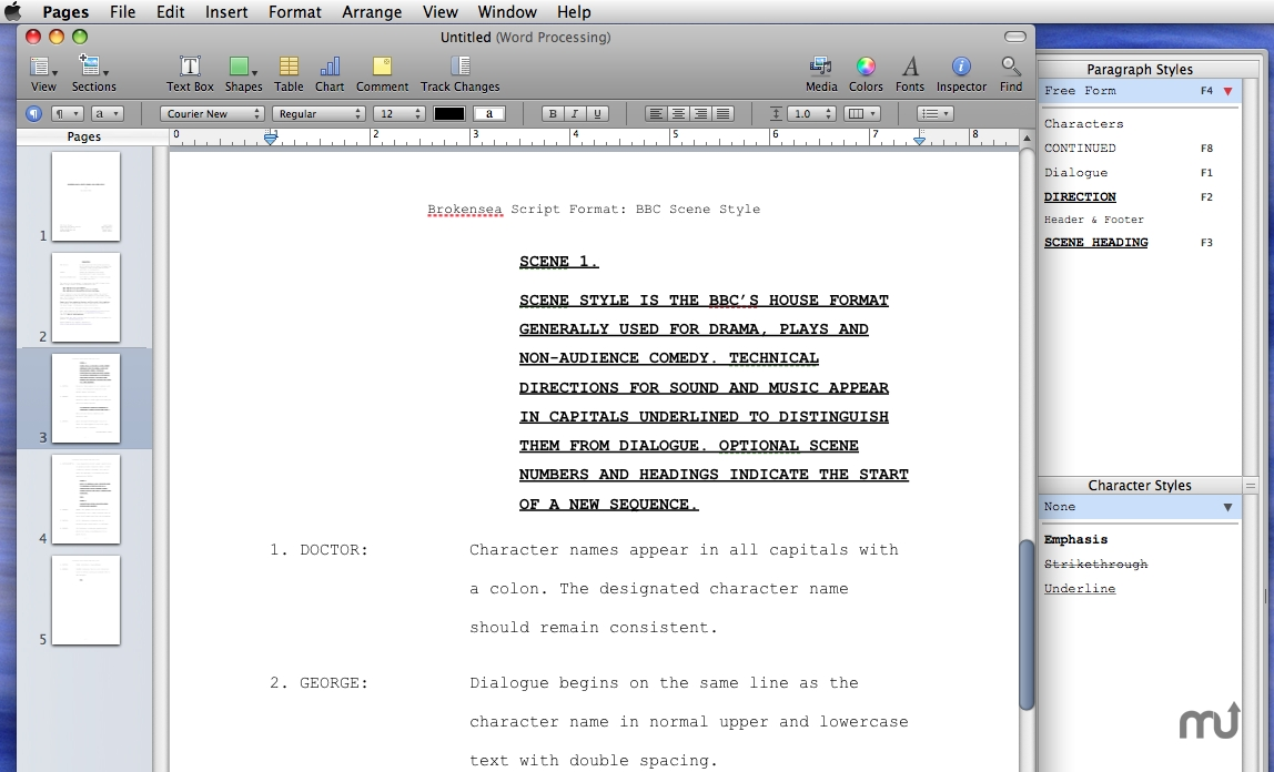 Script Writing Software Free Download Mac