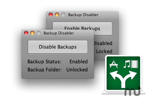 Screenshot 1 for Backup Disabler