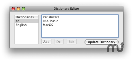Screenshot 1 for Dictionary Editor