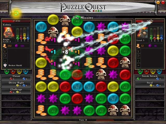 Screenshot 1 for Puzzle Quest: Challenge of the Warlords