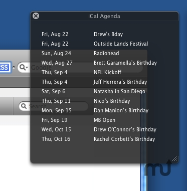 Screenshot 1 for iCal Agenda