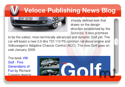 Screenshot 1 for Veloce Publishing Blog Widget