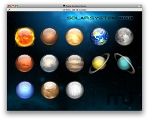 Screenshot 1 for Solar System Icons