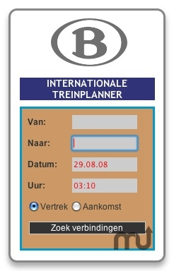 Screenshot 1 for NMBS Widget