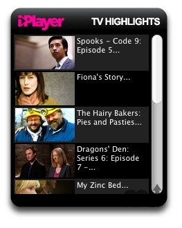 Screenshot 1 for BBC iPlayer Widget