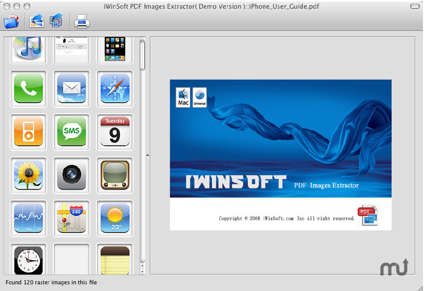Screenshot 1 for PDF Images Extractor