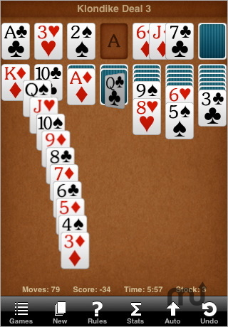 Screenshot 1 for Sol Free Solitaire