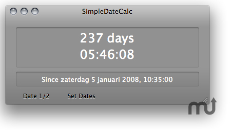 Screenshot 1 for SimpleDateCalc