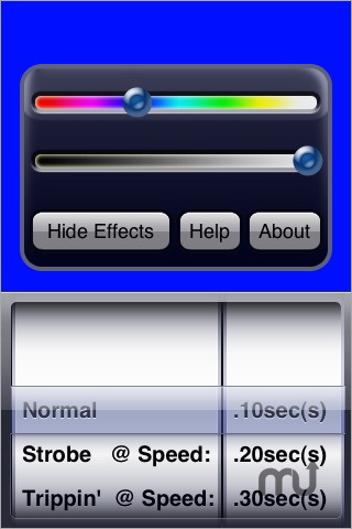 Screenshot 1 for myLite Flashlight and Colored Strobe
