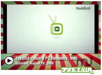 Screenshot 1 for Tekzilla Video Widget