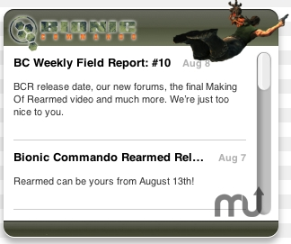 Screenshot 1 for Bionic Commando Widget