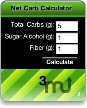 Screenshot 1 for Net Carb Calculator Widget
