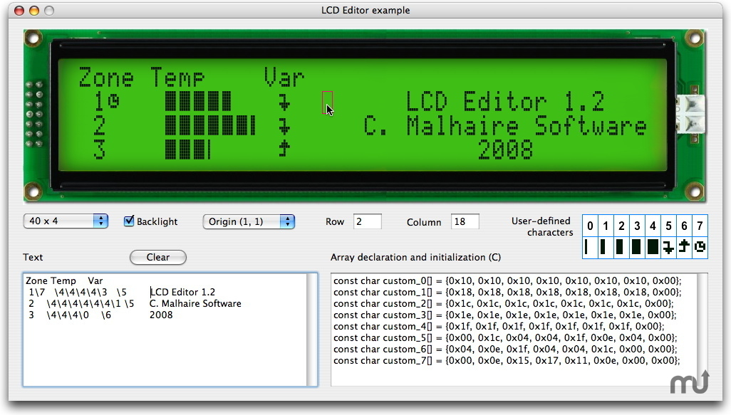 Screenshot 1 for LCD Editor