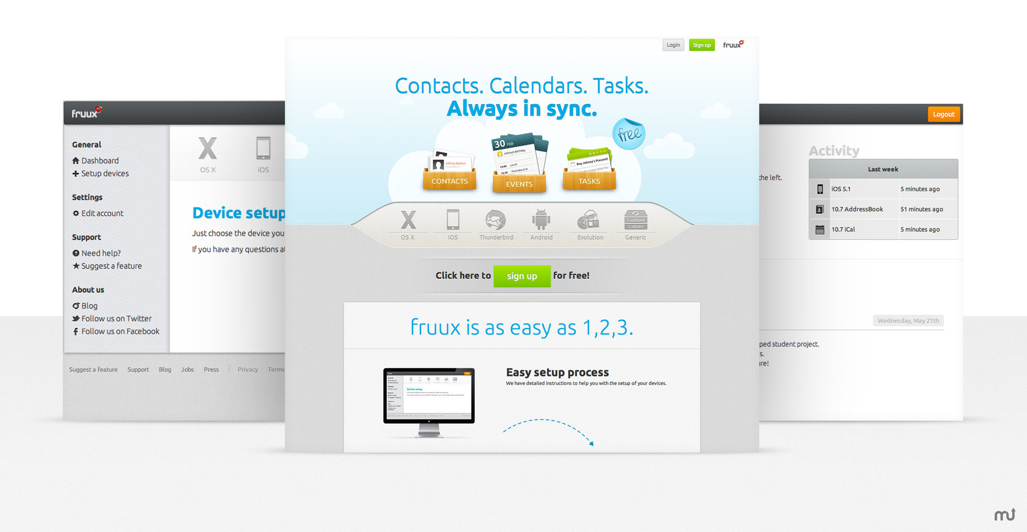 Screenshot 1 for fruux