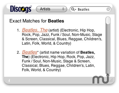 Screenshot 1 for Another Discogs Widget