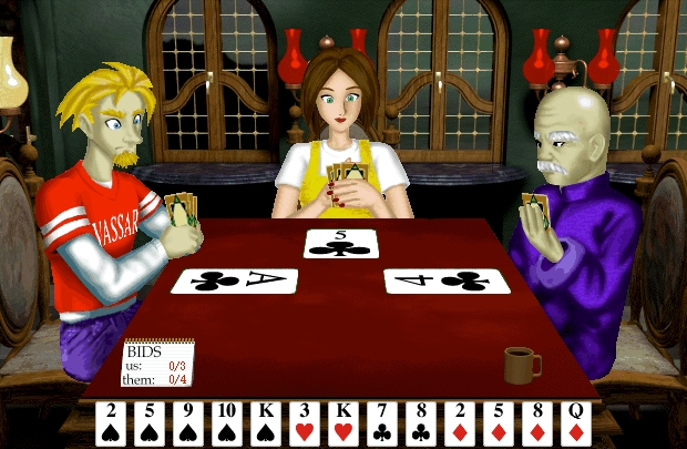 Screenshot 1 for 3D Spades Deluxe