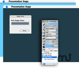 Screenshot 1 for Presentation Stage