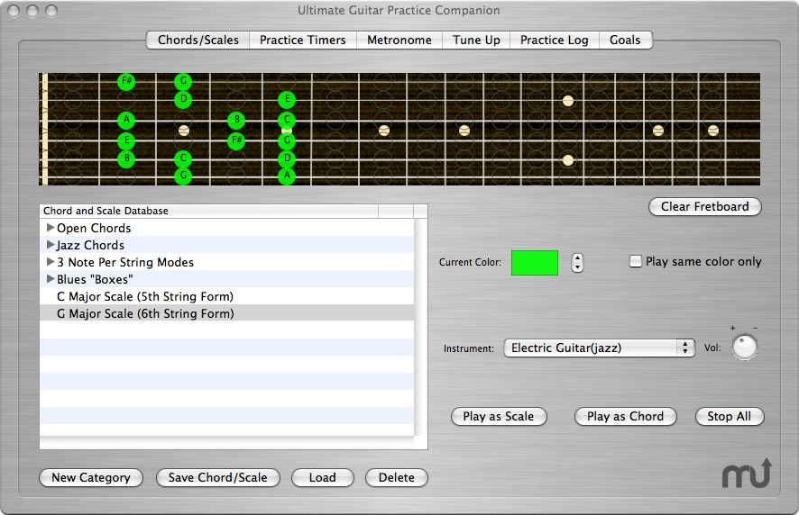 Screenshot 1 for The Ultimate Guitar Practice Companion