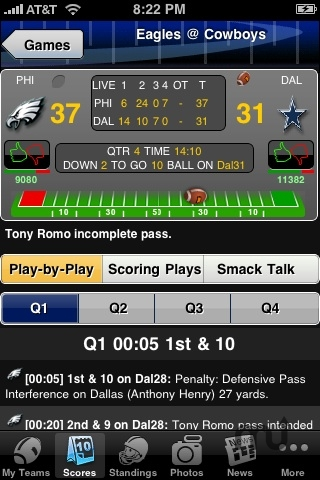Screenshot 1 for Pro Football Live