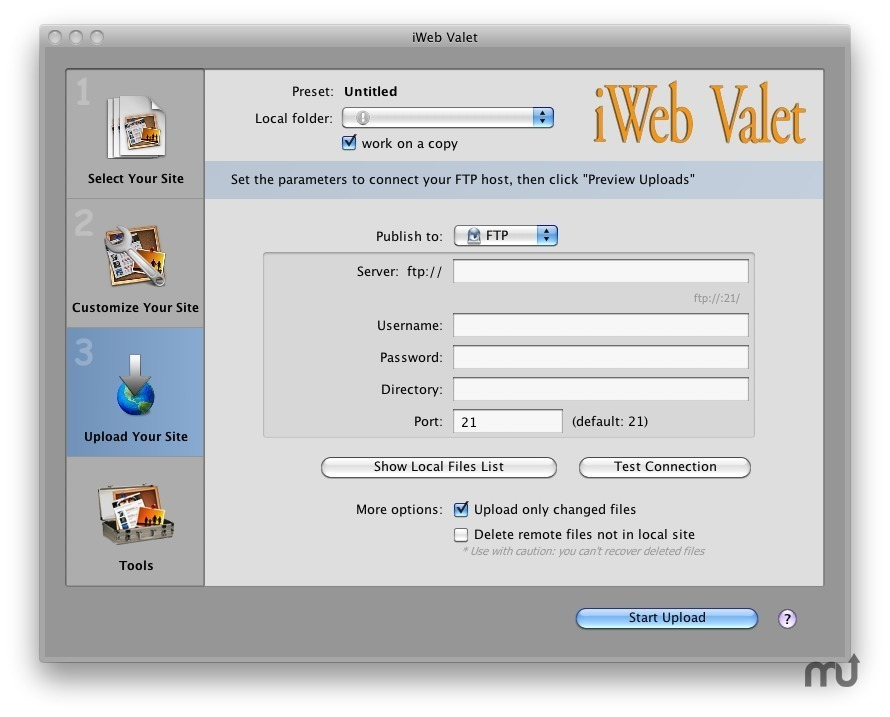 Screenshot 1 for iWeb Valet