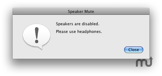Screenshot 1 for Speaker Mute