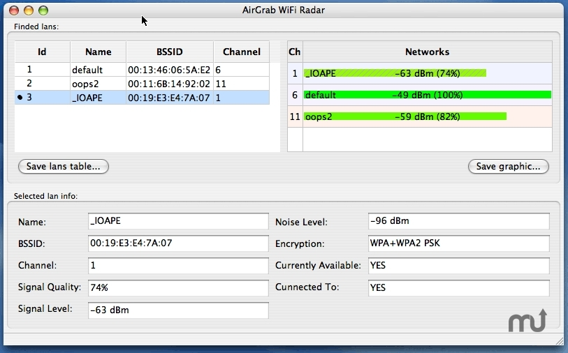 Screenshot 1 for WiFi Radar