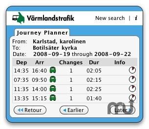 Screenshot 1 for Värmlandstrafik