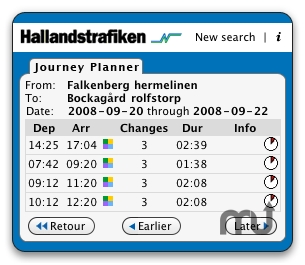 Screenshot 1 for Hallandstrafiken