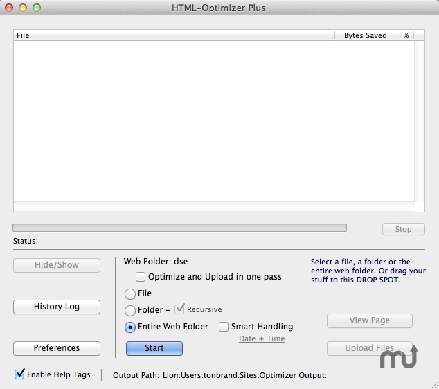 Screenshot 1 for HTML-Optimizer Plus
