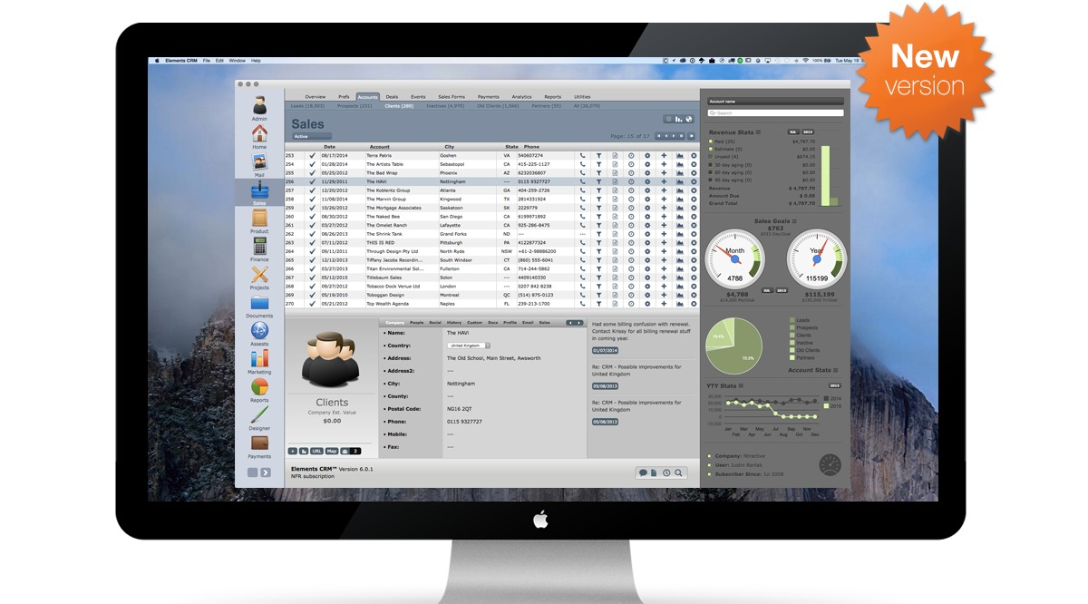 Screenshot 1 for Elements CRM