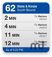 Screenshot 1 for CTA Bus Tracker Widget